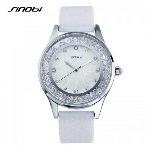 นาฬิกาสายยาง สุดสวยหรู SINObi สีขาวสดใส