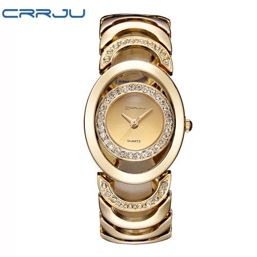 นาฬิกาทรงสวย สีทอง โดดเด่นมาก พร้อมออกงานและใส่ทำงาน