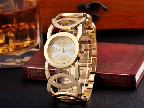 นาฬิกาใส่ออกงาน ใส่ทำงาน สีทอง สวยหรู premium