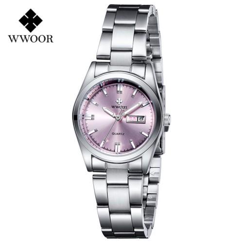 นาฬิกา WWOOR สีชมพู หรูหรา คุณภาพเยี่ยม