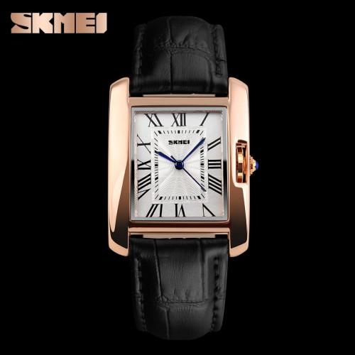 นาฬิกาสายหนัง SKMEI สวยๆ สีดำ ดูดี