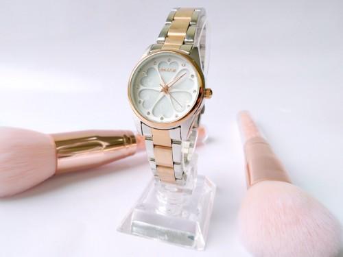 นาฬิกาหรู SKONE สีทองชมพู หรูหรา Premium ลายหัวใจ สวยมากๆ ดูมีระดับ คุณภาพดี