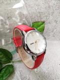 นาฬิกาสีแดง ลายดอกไม้ สายหนัง สวยมากๆๆ ยี่ห้อ SKMEI สวยน่ารักสุดๆ คุณภาพดี