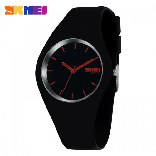 นาฬิกาแฟชั่น SKMEI สีดำ สายยาง สวย น่ารักมากๆ