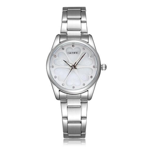 นาฬิกาหรู SKONE สีขาวเงิน หรูหรา Premium ลายหัวใจ