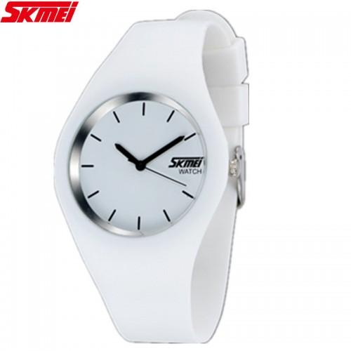 นาฬิกาแฟชั่น SKMEI สีขาว สายยาง สวย น่ารักมากๆ
