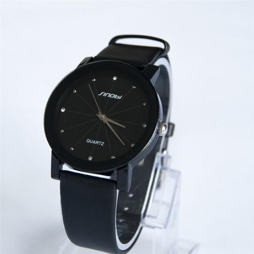 นาฬิกาสายหนัง Sinobi สีดำ สวย เรือนใหญ่