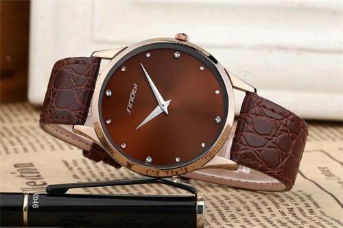 นาฬิกา Sinobi สีน้ำตาล สวย เรือนใหญ่ ดูดี