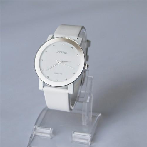 นาฬิกาสายหนัง Sinobi สีขาว สวย เรือนใหญ่