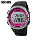 นาฬิกาวัดหัวใจจาก SKMEI หน้าปัดสีชมพู สุดคุ้ม