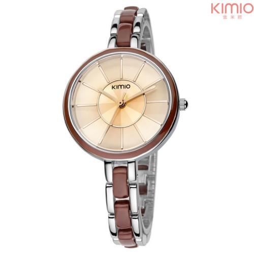 นาฬิกาแฟชั่น KIMIO สีน้ำตาล สวยน่ารัก