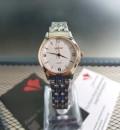 นาฬิกาหรู WEiQiN หน้าปัดสีขาว สวยหรูคลาสสิค ดูมีระดับ แฝงเพิ่มความหวานด้วยขอบสีทองชมพู นาฬิกาคุณภาพดี
