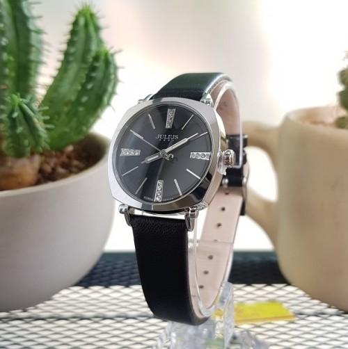 นาฬิกาคุณภาพดี สีดำ แบรนด์ Julius สวย ดูดี สไตล์เกาหลี