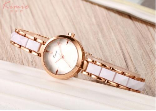 นาฬิกา KIMIO สีขาวขอบทอง น่ารักมากและดูหรูมาก