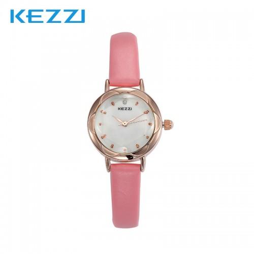 นาฬิกาสายสีชมพู เรือนเล็กกระทัดรัด สวยๆ สายหนัง