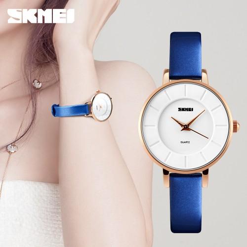 นาฬิกาสายสีน้ำเงิน SKMEI สวยสดใส เรียบง่าย แต่สวยดูดี