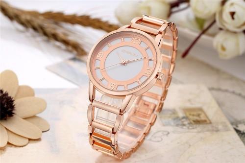 นาฬิกาทรงสวย สีทองชมพู สวย หวาน พร้อมใส่ทำงานและออกงาน