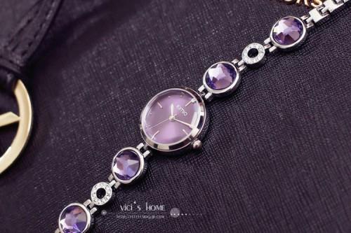 นาฬิกาแฟชั่นคุณภาพดี KIMIO สีม่วง สวยน่ารัก ดูดี