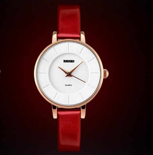 นาฬิกาสายสีแดง SKMEI สวยสดใส เรียบง่าย แต่สวยดูดี