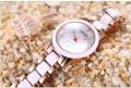 นาฬิกาหรู WEiQiN หน้าปัดสีขาว ขอบ rose gold สวยหวานมาก