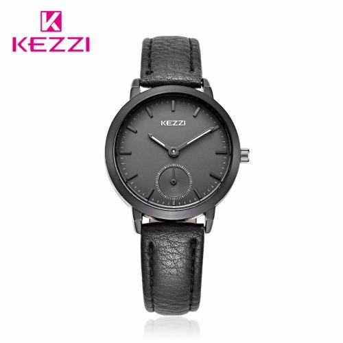 นาฬิกาสายหนัง KEZZI สีดำ สวยดูดี มีสไตล์