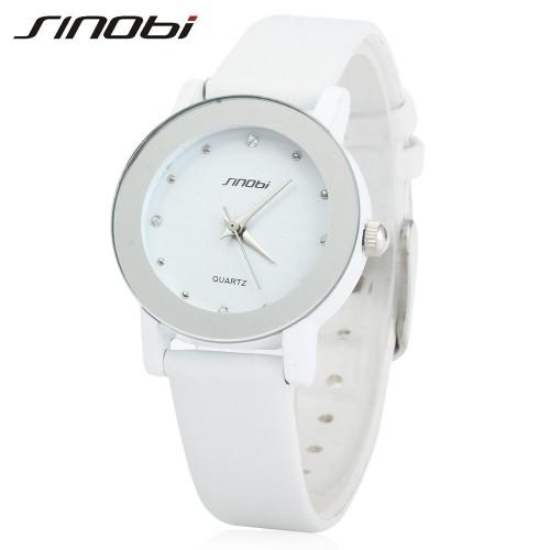 นาฬิกาสายหนัง Sinobi สีขาว เรือนเล็ก สวยดูดี