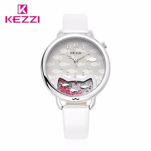 นาฬิกาสายสีขาว สไตล์น่ารัก ดูดี ยี่ห้อ Kezzi