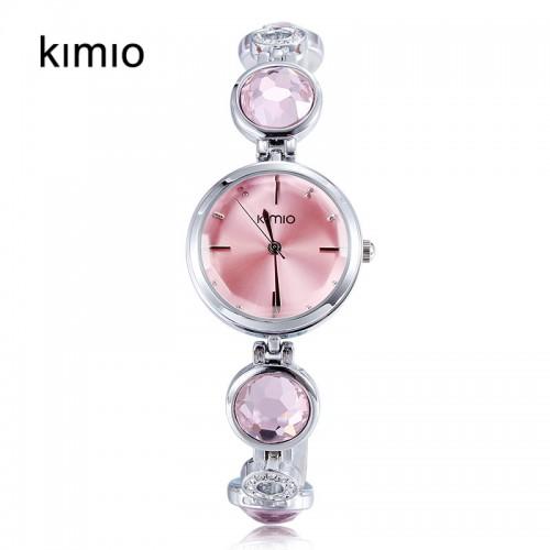 นาฬิกาแฟชั่นคุณภาพดี KIMIO สีแดงชมพู สวยน่ารัก สดใสมีสไตล์