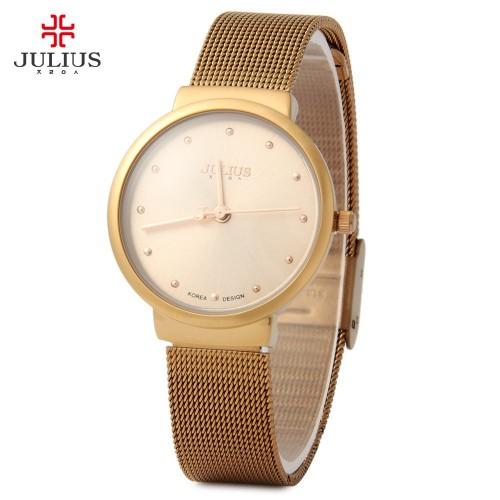 นาฬิกา Julius สีน้ำตาลทอง สวยหรู ดูดีมีสไตล์มาก