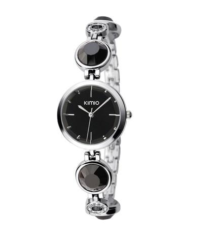 นาฬิกาแฟชั่นคุณภาพดี KIMIO สีดำ สวยน่ารัก ดูดี