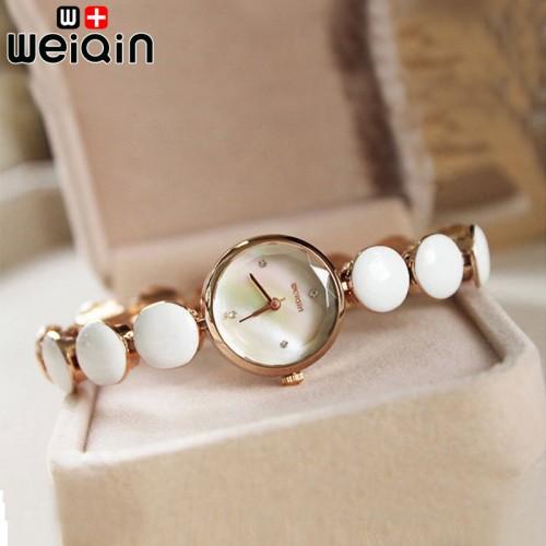 นาฬิกา WEIQIN ขาวขอบทอง สวยหรู น่ารักสุดๆ