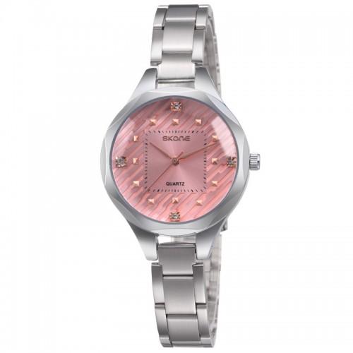 นาฬิกาหรู SKONE สีชมพู สวย หรูหรา แฝงด้วยความหวาน