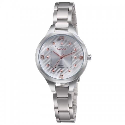 นาฬิกาหรู SKONE สีขาว สวย หรูหรา แฝงด้วยความหวาน