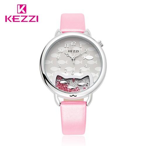 นาฬิกาสายสีชมพู สไตล์น่ารัก ดูดี ยี่ห้อ Kezzi