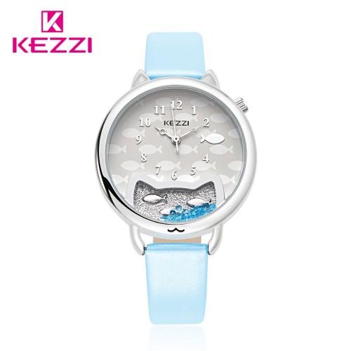 นาฬิกาสายสีฟ้า สไตล์น่ารัก ดูดี ยี่ห้อ Kezzi