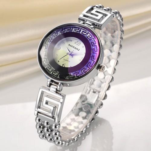 นาฬิกาจาก BAOSAILI สีเงิน ดีไซน์หรูหรา โดดเด่น