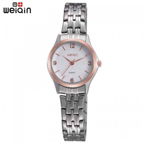 นาฬิกาหรู WEiQiN หน้าปัดสีขาว สวยหรูคลาสสิค ดูมีระดับ