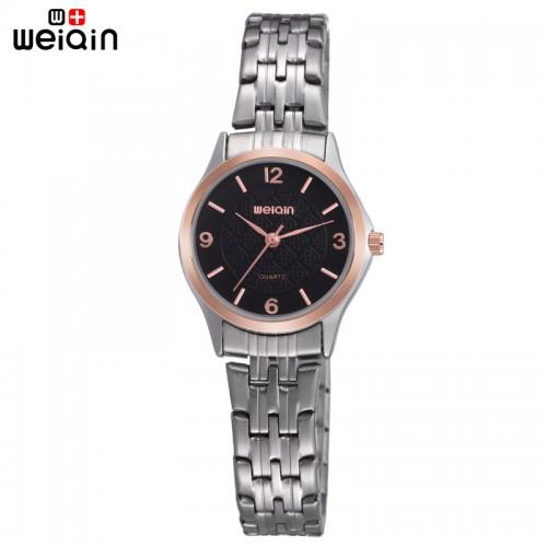นาฬิกาหรู WEiQiN สีดำ สวยหรูคลาสสิค ดูมีระดับ