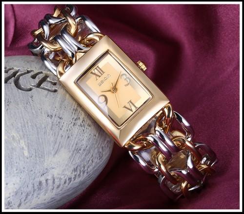 นาฬิกา WEIQIN สาย design สร้อยสีทองและเงิน (สองกษัตริย์) สวยมาก
