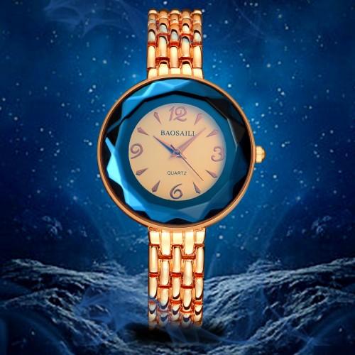 นาฬิกาจาก BAOSAILI สายสีทองชมพู พร้อมใส่ออกงาน ทรงสวยหรู
