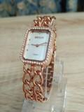 นาฬิกา WEIQIN สีทองชมพู สไตล์โซ่ 2 สาย สวยหรูและน่ารักมากๆ