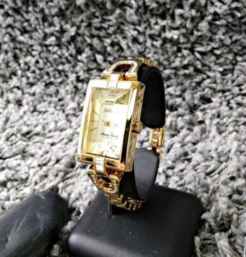 นาฬิกา Julius สีทองพื้นหน้าปัดขาว สวยหรูสุดๆ ดูมีระดับ