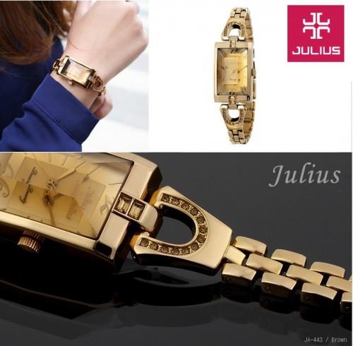 นาฬิกา Julius สีน้ำตาลทองทั้งเรือน สวยหรูสุดๆ ดูมีระดับ