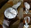 นาฬิกา Mini Focus สีเงินตัวเรือน ดีไซน์เรียบหรู คลาสสิค ดูมีระดับ