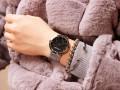 นาฬิกา Mashali หน้าปัดดำ สายเงิน สวยหรูดูดีสุดๆ