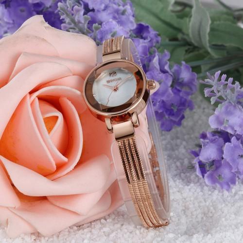 นาฬิกา WEIQIN ดีไซน์สายสร้อยสีพิงค์โกลด์ สวยดูดีสุดๆ