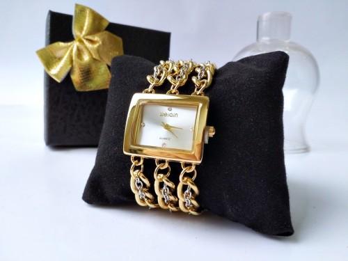 นาฬิกา WEIQIN สาย design สร้อยสีสองกษัตริย์ ทอง+เงิน สวยมาก