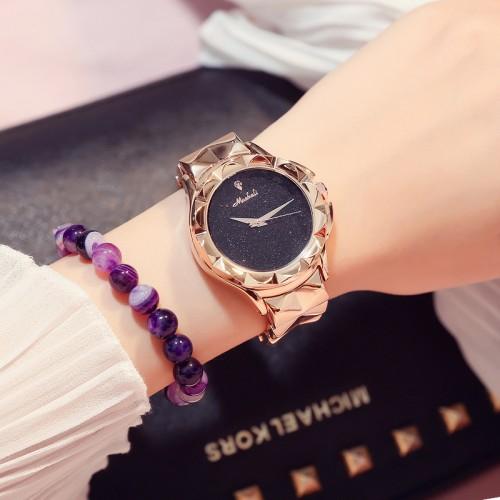 นาฬิกาสีทองชมพูยี่ห้อ Mashali สวยหรูสุดๆ คุณภาพยอดเยี่ยม