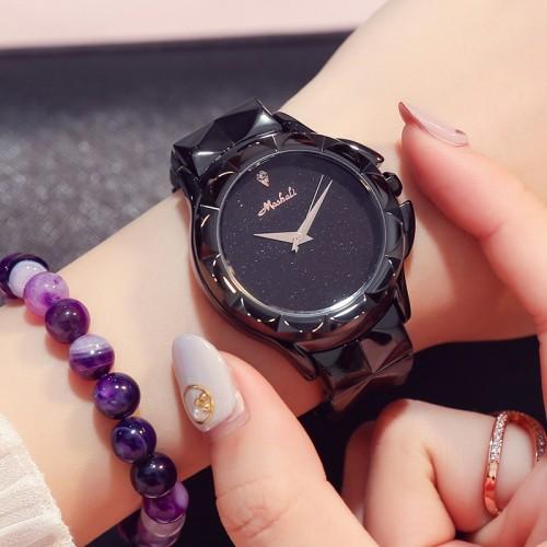 นาฬิกาสีดำยี่ห้อ Mashali สวยหรูสุดๆ คุณภาพยอดเยี่ยม