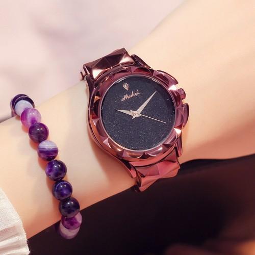 นาฬิกาสีม่วงยี่ห้อ Mashali สวยหรูสุดๆ คุณภาพยอดเยี่ยม